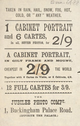 Advert for the Jubilee Photo Company